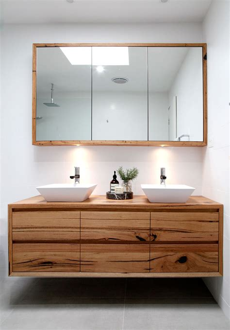 introducing  iluka wall hung recycled timber vanity