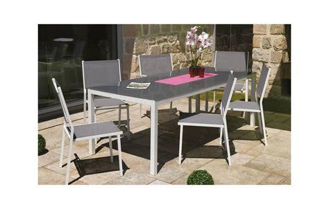 table et chaises jardin table et chaises de jardin en aluminium gris et blanc
