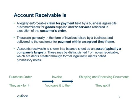 Accounts receivable insurance also can help a company obtain a higher advance rate with lenders that use accounts receivables as collateral. CoFace Credit Insurance - Account Receivables Insurance