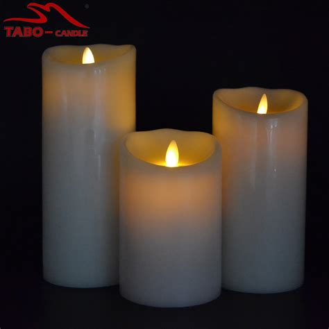 battery operated real wax flickering moving wick candle