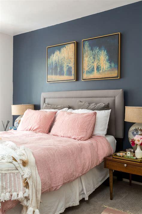 boho chic navy  pink bedroom  vintage splendor  home