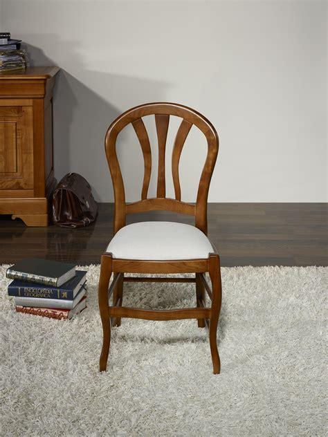 chaise style louis philippe chaise camille en hêtre massif assise tissu de style louis