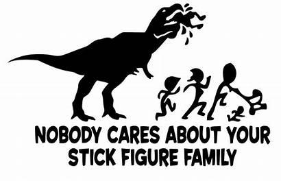 Stick Nobody Cares Svg Decal Funny Rex