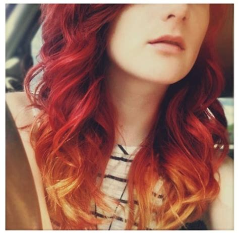 Red To Strawberry Blonde Ombre Hair Hair Pinterest