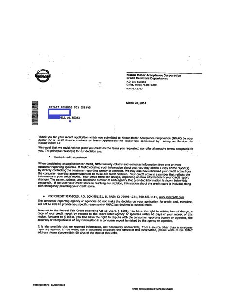 denial notice  nmac judson  crump pc