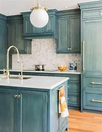 kitchen cabinet refinishing ideas 23 gorgeous blue kitchen cabinet ideas with regard to ...