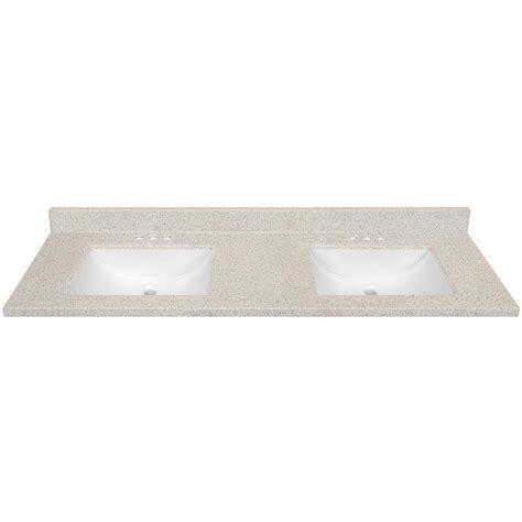 shop dune solid surface integral double sink bathroom