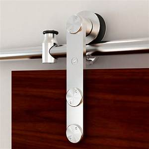 rolling barn door hardware kit stainless steel vertical With barn door straps