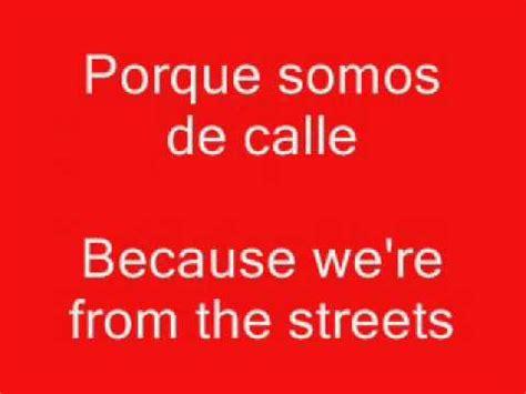 learning spanish rap songslevel translated  english