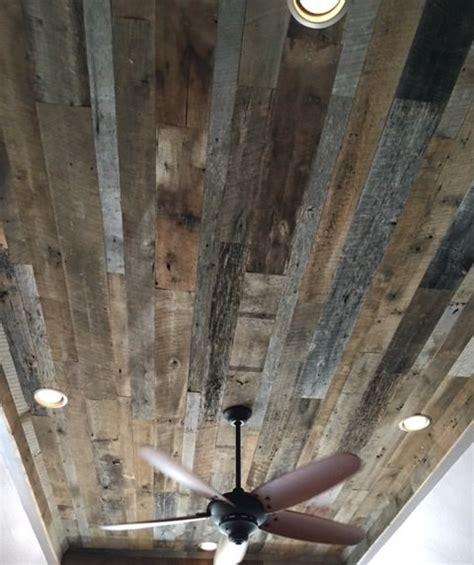reclaimed wood ceiling fan old texas wood