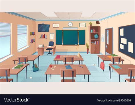 classroom interior school  college room  vector