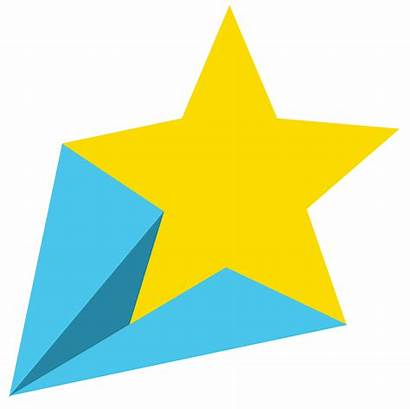 Yellow Star Stars Shooting Clipart Clip Animated