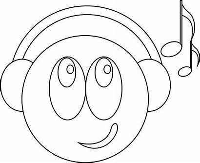 Smiley Dessin Coloriage Imprimer Colorier Gratuit Musique