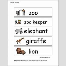 Word Wall Zoo (pictures) Abcteach
