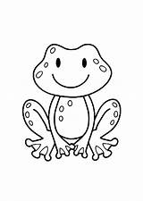 Coloring Frogs Pages Children Print Simple Frog Printable Justcolor Monkey Animals Preschool Adult sketch template