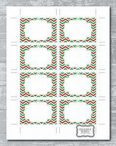 instant download christmas chevron editable pdf With 3x2 label template
