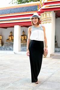 Bangkok, Thailand: Maxi Skirt + Embroidered Top - Blame it