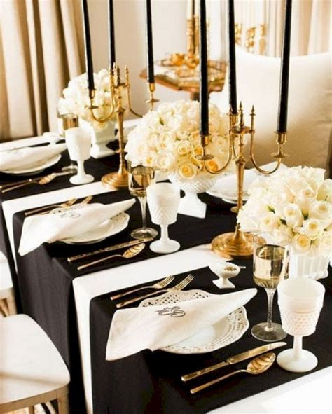 black and white table l black white and gold table setting black white and gold
