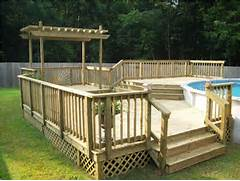 Ideas Wonderfull Above Ground Pool Deck Design Ideas Deck Design Ideas Above Ground Pool With Deck Ideas Landscaping Gardening Ideas Lighting In Pool Patio Ideas Inspiration Outdoor Patio Design Ideas Pool With A Very Simple And Serene Look View In Gallery The Pool