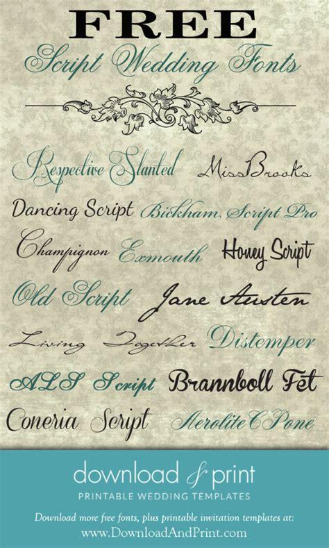 wedding script fonts