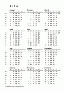 Free Printable Calendars 2017 2018 Week Numbers