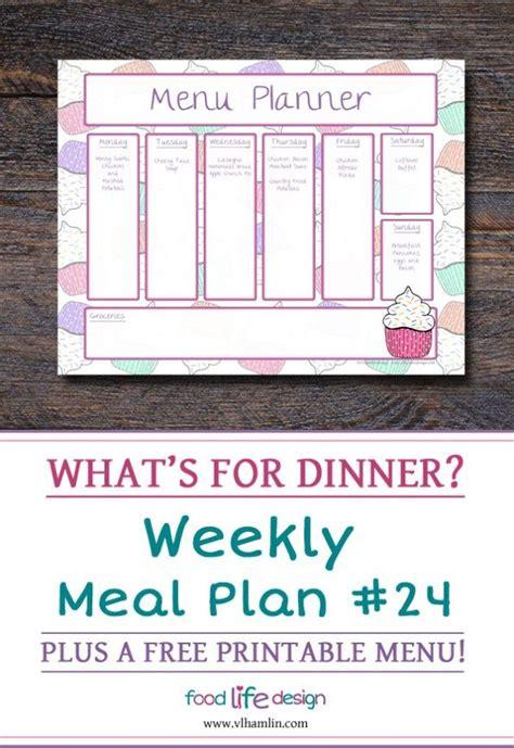 weekly meal planner   images menu planner