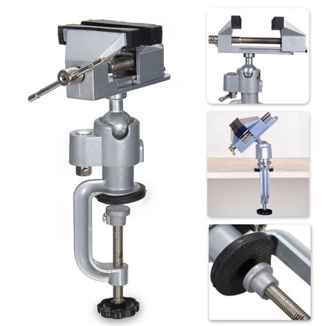 vise workbench swivel  rotating clamp table top deluxe