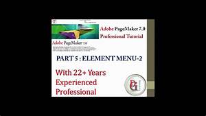 Adobe Pagemaker  Tutorial 5 Part 2