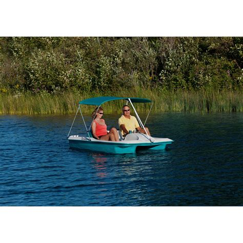 Sun Dolphin Paddle Boat Cover by Sun Dolphin 5 Person Sun Slider Pedal Boat With Canopy Ebay