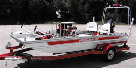 Rescue One Boats by Apparatus Delton Department The Of Lake