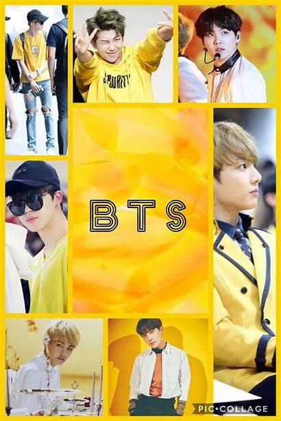 Bts Yellow Collage Pantalla Boys Imagenes Jimin