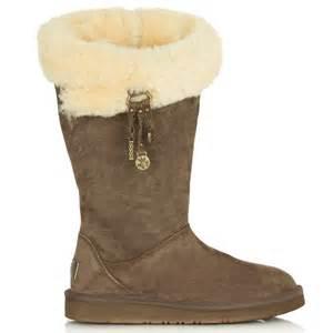 ugg brown plumdale charm flat sheepskin 39 s boot