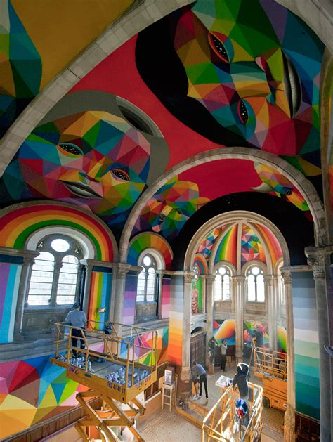 Okuda San Miguel Paints Colorful Mural Within Converted. Females Only Signs. Als Signs. Magic Logo. Round Lettering. Dissident Republican Murals. Score Signs Of Stroke. Uzi Decals. Preschool Decals