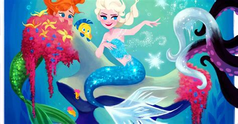 frozens elsa    sea  disney princess