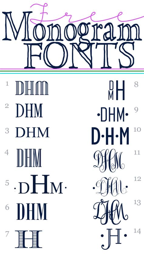 monogram fonts    style