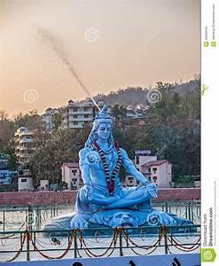 Shiva Statue In Rishikesh Stock Photo - Image: 40450576