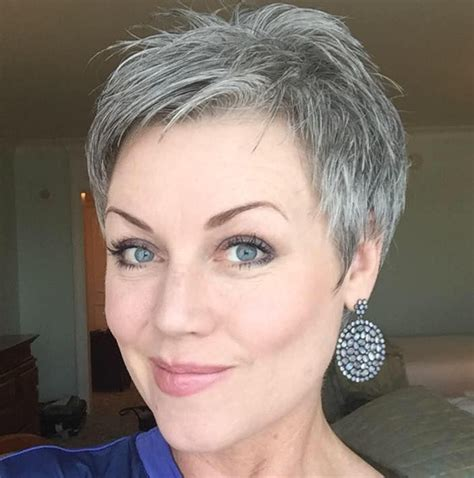 short gray hairstyles ideas  pinterest short