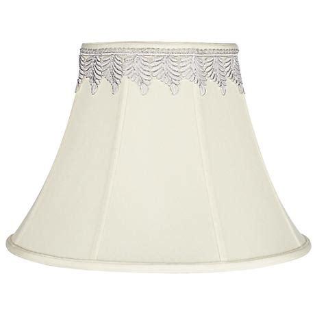 stiffel off white silk shantung bell shade 7x18x11 5