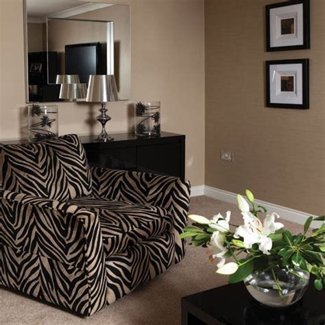 Zebra Decorating Ideas Living Room by Bold Zebra Print Living Room Living Room Housetohome Co Uk