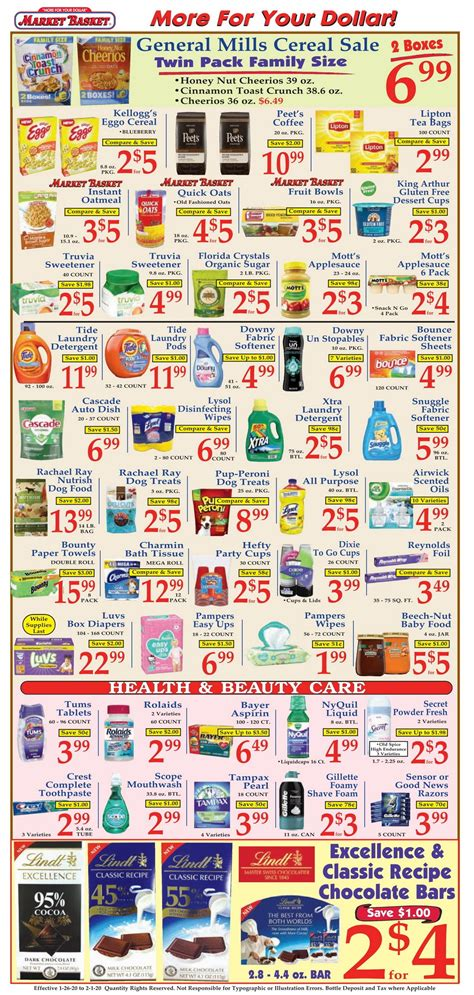 market basket weekly flyer jan  feb