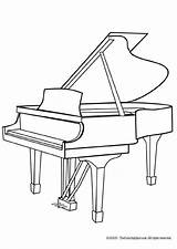 Piano Coloring Pages Grand Musical sketch template