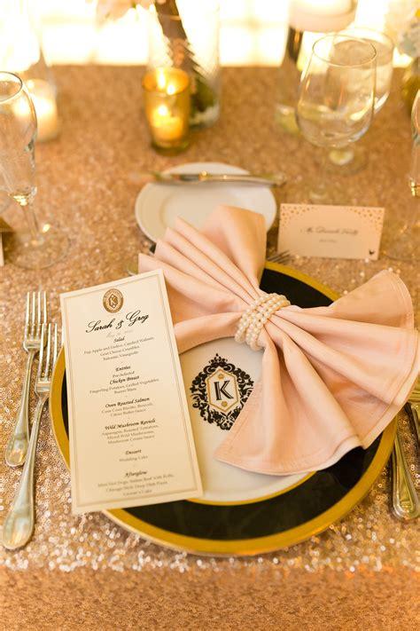 pink bow napkin fold elizabeth anne designs  wedding