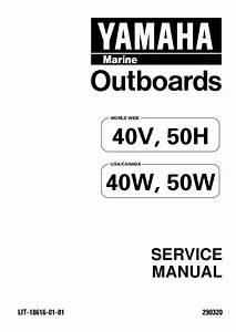 Yamaha Outboard 50 Hedo  50er Service Repair Manual L 521079