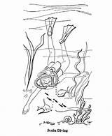 Scuba Coloring Diver Diving Sheets Season Drawing Activity Printable Seasons Ocean Sea Activities Underwater Drawings Designlooter Farm 820px 95kb sketch template