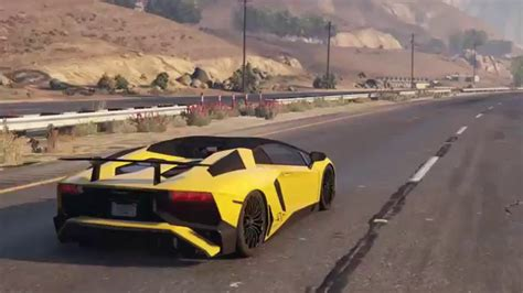 lamborghini aventador sv roadster gta 5 lamborghini aventador lp 750 4 sv roadster gta v showcase 720p60 youtube