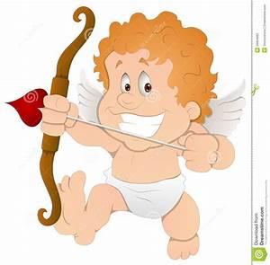 Cute Cartoon Cupid - Vector Illustration Stock Vector ...