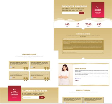 elementor templates free landing page elementor template for ebook cakewp