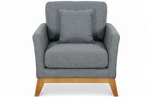 Fauteuil Design Scandinave : fauteuil scandinave tissu gris molto fauteuil design pas ~ Melissatoandfro.com Idées de Décoration