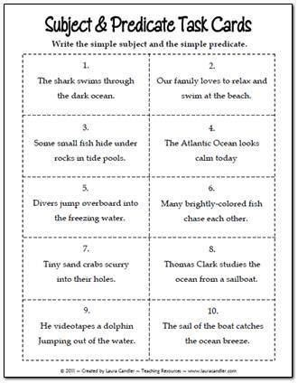 27 best subject and predicate activities images on pinterest subject and predicate teaching
