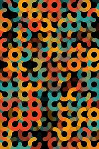 Orange Geometric Circle Vertical Pattern Digital Art by ...